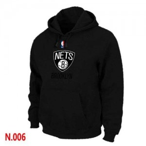 Brooklyn Nets Sweat à capuche d'équipe de NBA - Noir pour Homme