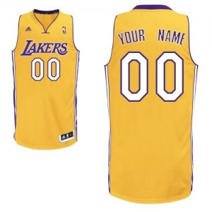 Maillot NBA Swingman Personnalisé Los Angeles Lakers Home Or - Enfants