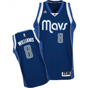 Dallas Mavericks Deron Williams #8 Alternate Swingman Maillot d'équipe de NBA - Bleu marin pour Femme