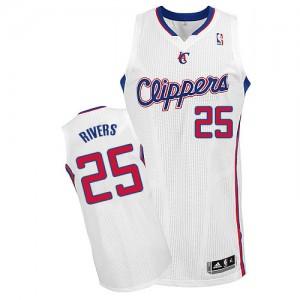 Los Angeles Clippers #25 Adidas Home Blanc Authentic Maillot d'équipe de NBA préférentiel - Austin Rivers pour Homme
