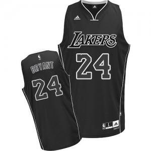 Los Angeles Lakers #24 Adidas Noir Blanc Swingman Maillot d'équipe de NBA Le meilleur cadeau - Kobe Bryant pour Homme