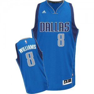 Maillot Adidas Bleu royal Road Swingman Dallas Mavericks - Deron Williams #8 - Femme