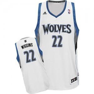 Minnesota Timberwolves #22 Adidas Home Blanc Swingman Maillot d'équipe de NBA Remise - Andrew Wiggins pour Homme