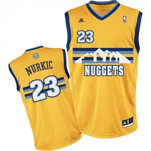 Maillot NBA Or Jusuf Nurkic #23 Denver Nuggets Alternate Swingman Homme Adidas