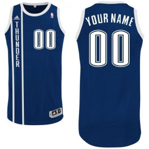 Maillot Adidas Bleu marin Alternate Oklahoma City Thunder - Authentic Personnalisé - Homme