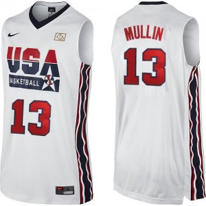 Maillot NBA Swingman Chris Mullin #13 Team USA 2012 Olympic Retro Blanc - Homme