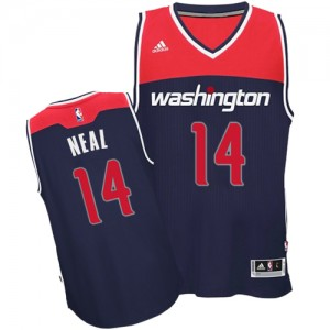 Maillot NBA Washington Wizards #14 Gary Neal Bleu marin Adidas Authentic Alternate - Homme