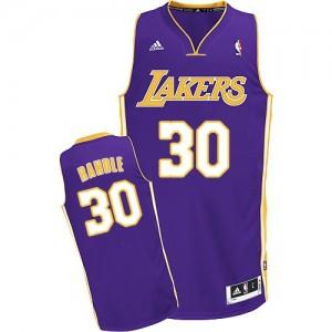 Maillot NBA Los Angeles Lakers #30 Julius Randle Violet Adidas Swingman Road - Homme