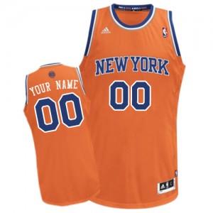 New York Knicks Personnalisé Adidas Alternate Orange Maillot d'équipe de NBA pour pas cher - Swingman pour Enfants