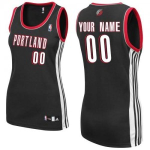 Maillot NBA Authentic Personnalisé Portland Trail Blazers Road Noir - Femme