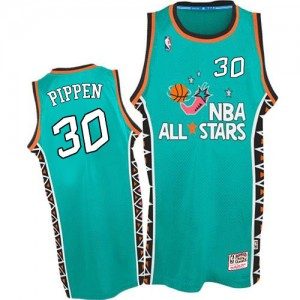Maillot Mitchell and Ness Bleu clair 1996 All Star Throwback Authentic Chicago Bulls - Scottie Pippen #30 - Homme