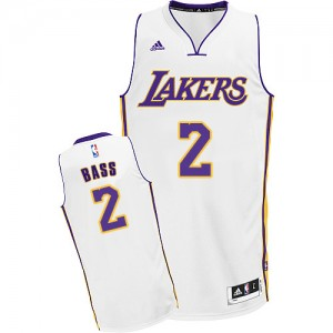 Maillot Adidas Blanc Alternate Swingman Los Angeles Lakers - Brandon Bass #2 - Homme