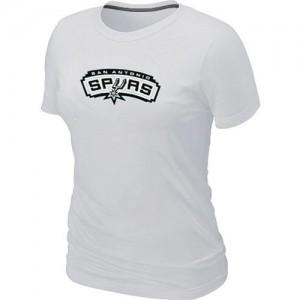 T-shirt principal de logo San Antonio Spurs NBA Big & Tall Blanc - Femme