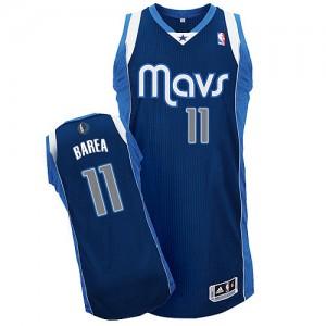Maillot Adidas Bleu marin Alternate Authentic Dallas Mavericks - Jose Barea #11 - Homme