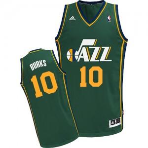 Utah Jazz #10 Adidas Alternate Vert Swingman Maillot d'équipe de NBA boutique en ligne - Alec Burks pour Homme