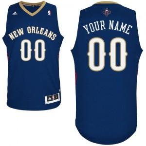 Maillot NBA New Orleans Pelicans Personnalisé Swingman Bleu marin Adidas Road - Homme