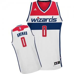 Washington Wizards Gilbert Arenas #0 Home Swingman Maillot d'équipe de NBA - Blanc pour Homme