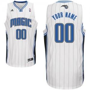 Maillot NBA Blanc Swingman Personnalisé Orlando Magic Home Homme Adidas