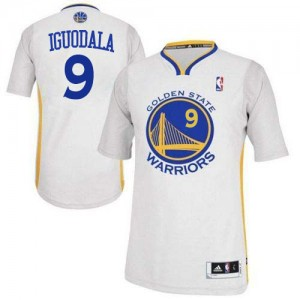 Golden State Warriors #9 Adidas Alternate Blanc Authentic Maillot d'équipe de NBA la vente - Andre Iguodala pour Homme