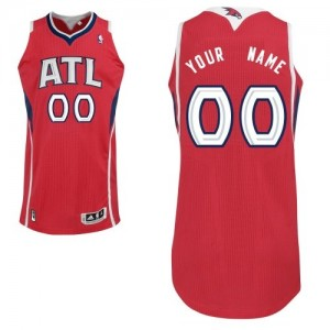 Maillot NBA Authentic Personnalisé Atlanta Hawks Alternate Rouge - Femme