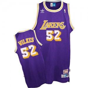 Maillot Swingman Los Angeles Lakers NBA Throwback Violet - #52 Jamaal Wilkes - Homme