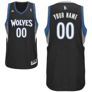 Maillot Adidas Noir Alternate Minnesota Timberwolves - Swingman Personnalisé - Enfants