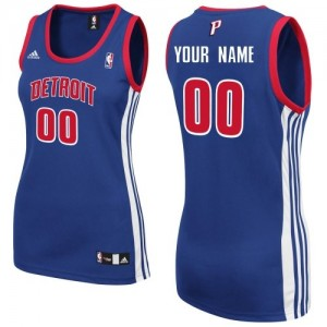 Maillot Detroit Pistons NBA Road Bleu royal - Personnalisé Swingman - Femme