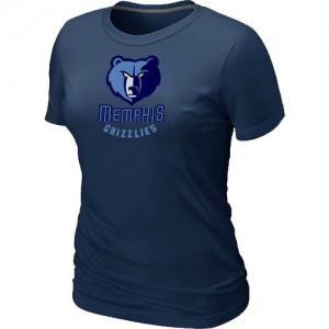 T-shirt principal de logo Memphis Grizzlies NBA Big & Tall Marine - Femme