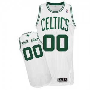 Maillot Boston Celtics NBA Home Blanc - Personnalisé Authentic - Homme