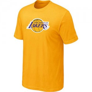 Tee-Shirt NBA Jaune Los Angeles Lakers Big & Tall Homme