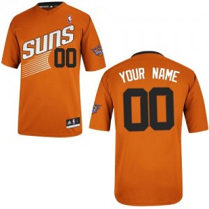 Maillot NBA Orange Authentic Personnalisé Phoenix Suns Alternate Homme Adidas