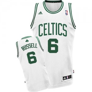 Maillot NBA Blanc Bill Russell #6 Boston Celtics Home Swingman Homme Adidas