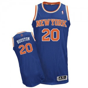 New York Knicks #20 Adidas Road Bleu royal Authentic Maillot d'équipe de NBA pas cher - Allan Houston pour Homme