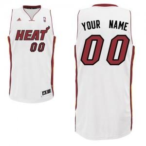 Maillot NBA Blanc Swingman Personnalisé Miami Heat Home Enfants Adidas