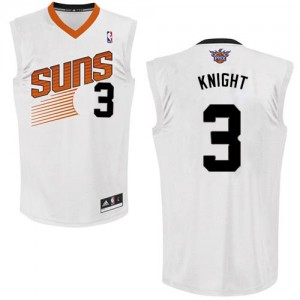 Maillot NBA Phoenix Suns #3 Brandon Knight Blanc Adidas Swingman Home - Homme