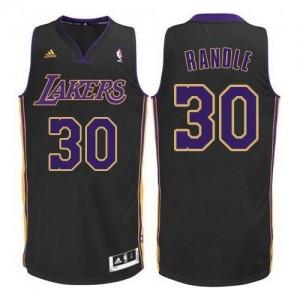 Maillot NBA Los Angeles Lakers #30 Julius Randle Noir Violet NO. Adidas Authentic - Homme