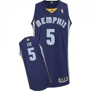 Maillot NBA Authentic Courtney Lee #5 Memphis Grizzlies Road Bleu marin - Homme
