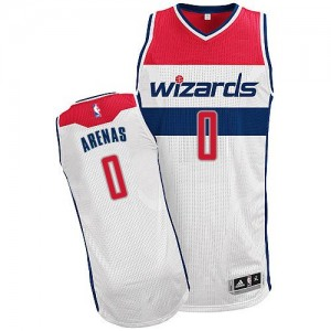 Maillot Adidas Blanc Home Authentic Washington Wizards - Gilbert Arenas #0 - Homme