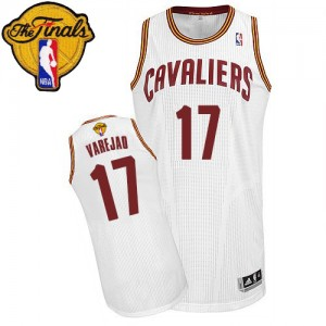 Maillot Authentic Cleveland Cavaliers NBA Home 2015 The Finals Patch Blanc - #17 Anderson Varejao - Homme