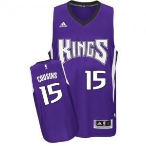 Maillot Adidas Violet Road Swingman Sacramento Kings - DeMarcus Cousins #15 - Homme
