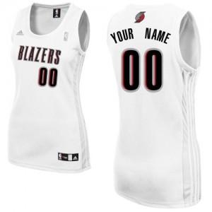 Portland Trail Blazers Swingman Personnalisé Home Maillot d'équipe de NBA - Blanc pour Femme