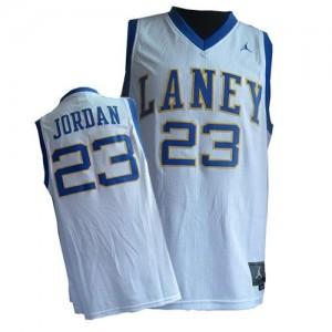 Maillot Authentic Chicago Bulls NBA Throwback Laney High School Classic Blanc - #23 Michael Jordan - Homme