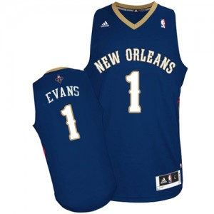 Maillot Adidas Bleu marin Road Swingman New Orleans Pelicans - Tyreke Evans #1 - Homme