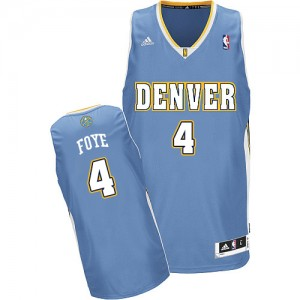 Maillot Adidas Bleu clair Road Swingman Denver Nuggets - Randy Foye #4 - Homme