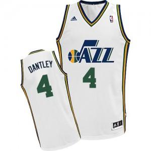 Maillot NBA Blanc Adrian Dantley #4 Utah Jazz Home Swingman Homme Adidas