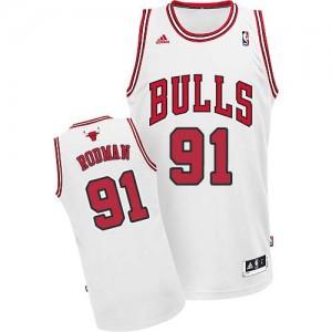 Maillot Adidas Blanc Home Swingman Chicago Bulls - Dennis Rodman #91 - Homme