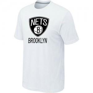 Tee-Shirt Blanc Big & Tall Brooklyn Nets - Homme
