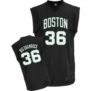 Maillot Authentic Boston Celtics NBA Big Shamrock Noir - #36 Shaquille O'Neal - Homme