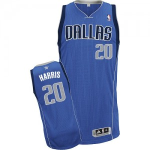 Maillot NBA Dallas Mavericks #20 Devin Harris Bleu royal Adidas Authentic Road - Homme