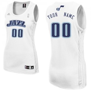 Maillot NBA Utah Jazz Personnalisé Swingman Blanc Adidas Home - Femme
